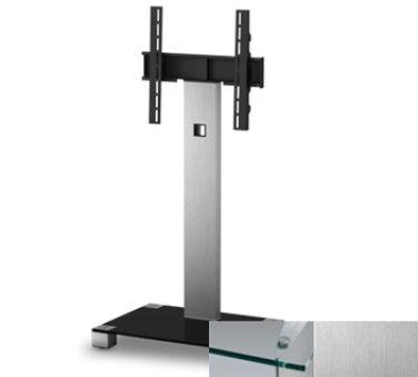 Meuble colonne pour écran Plasma LCD  Alu brossé finition inox - Verre clair ) Sonorous PL2510CINX